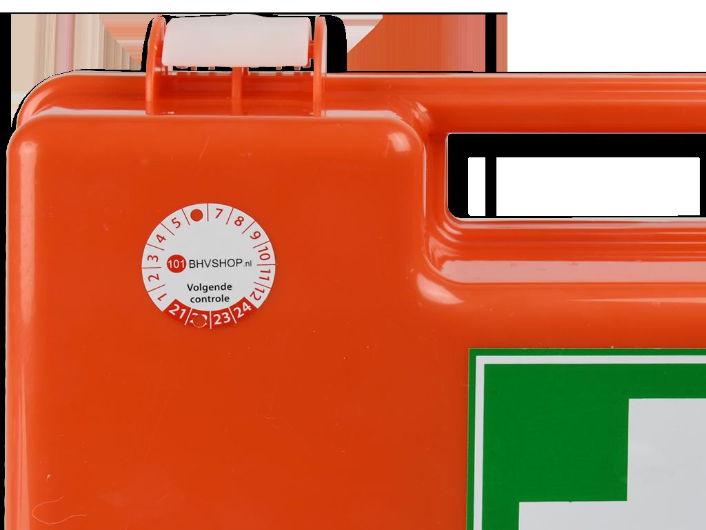 ehbo koffer onderhoudssticker