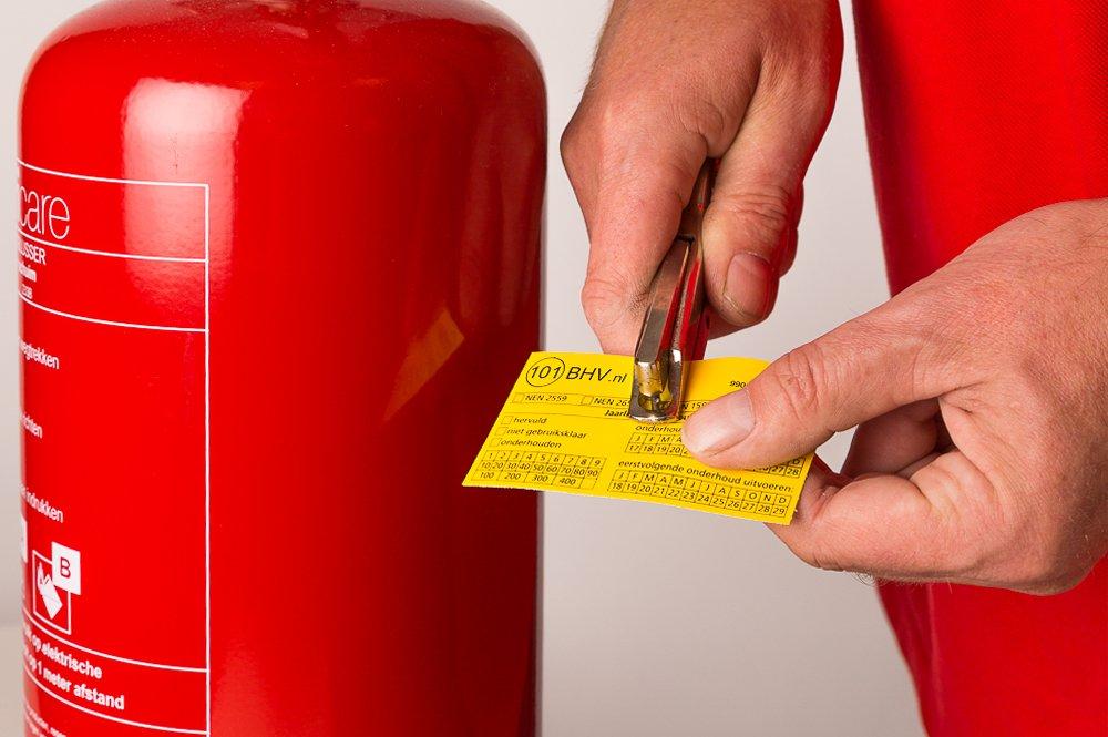 controle en onderhoud brandblussers